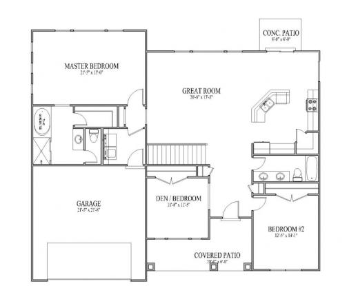 Open plan 3 bedrooms house floor plans for Best open floor plan home designs