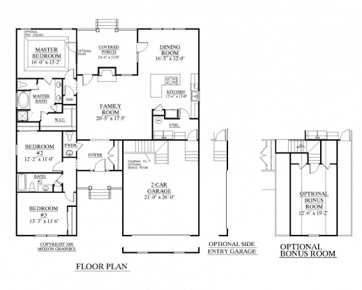 Outstanding top residential blueprints on single story for Residential home floor plans