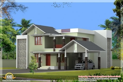 Remarkable 1195 Square Feet Beautiful Small House Kerala Home Design And Top Plan Of Kerala Houses Picture