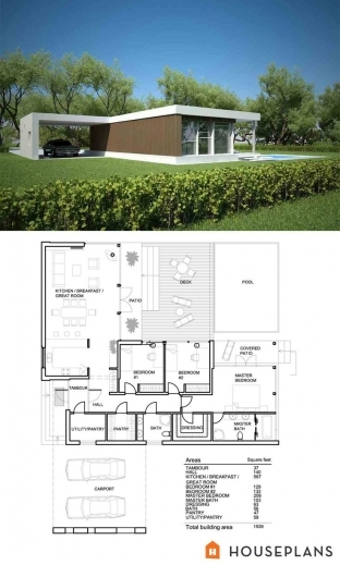 Remarkable 17 Best Ideas About Modern House Plans On Pinterest Modern Floor Modern House Plan And Elevation Pic