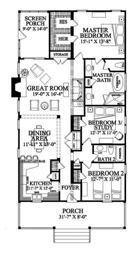 Remarkable 17 Best Ideas About Narrow House Plans On Pinterest Small Home 3d 3 Bedroom Bungalow Plan On Half Plot Pictures