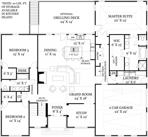 Remarkable 17 Best Ideas About Open Concept Floor Plans On Pinterest Open Open Plan 3 Bedrooms Pic