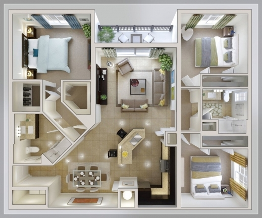 Remarkable Bedroom Layout Ideas Small 3 Bedroom House Plan Home Properti Three Bedroom House Plan Images