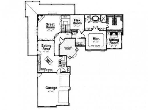 Remarkable L Shaped House Plans With Attached Garage Home Floor Plans L Design House Plans Photo