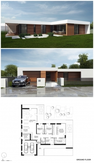 Remarkable Small Modern House Plan And Elevation 1500sft Plan 552 2 Small Modern House Plan And Elevation Photo