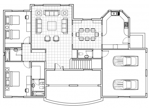 Stunning autocad 2017 floor plan tutorial pdf floorplan in for Cad house design