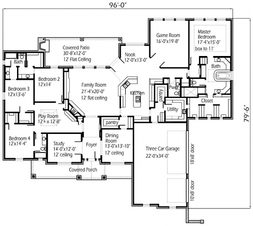 Stunning Large House Plans Farmhouse Home With Big Kitchens ...