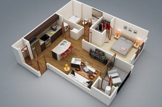 Stylish 17 Best Ideas About 1 Bedroom House Plans On Pinterest Guest One Bedroom House Plans Pictures