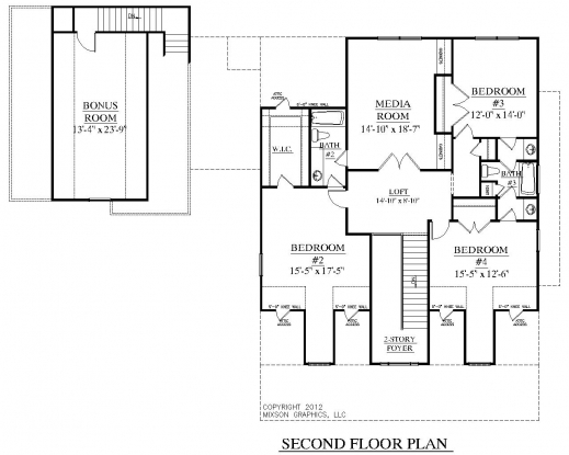5 bedroom house plans with bonus room house floor plans for House plans with bonus room upstairs