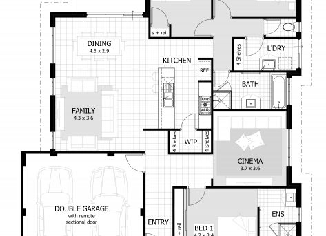 Stylish 3 Bedroom House Plans Home Design Ideas 3 Bedroom Plans Image