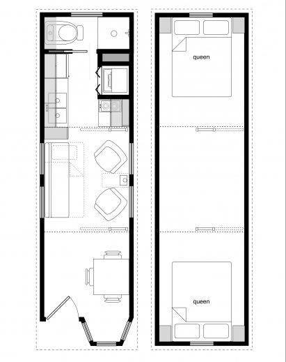 stylish 8 x 20 tiny house floor plans colorful photo