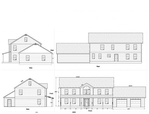 Floor Plan And Elevation Of A House House Floor Plans