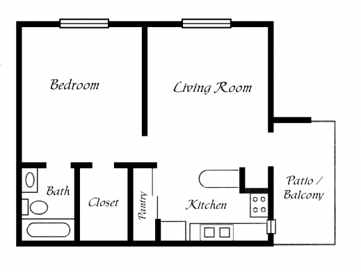 Stylish One Room House Plans Floor Plans Within One Bedroom House Floor One Room Bungalow Floor Plans Images Photo