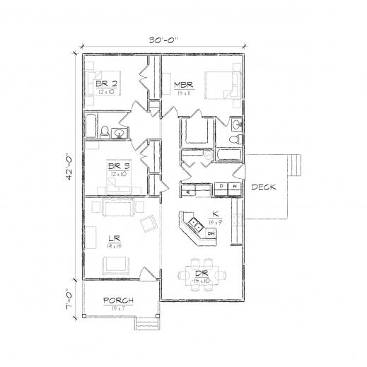 Wonderful Jackson Ii Bungalow Floor Plan Tightlines Designs One Room Bungalow Floor Plans Images Photos