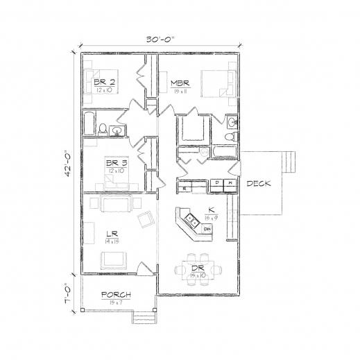 Wonderful Jackson Ii Bungalow Floor Plan Tightlines Designs One Room Bungalow Floor Plans Images Photos