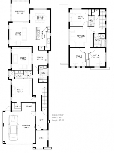 Wonderful Narrow Lot House Plans Home Design Ideas Narrow Lot Home Plan Pics