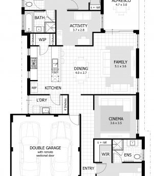 Amazing 3 Bedroom House Plans Home Designs Celebration Homes 3 Bedroom Housing Plans Pictures