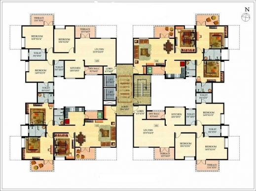 Amazing Beautiful Floor Plans With Two Floor Design For Large Family With Beautiful House Plans Pictures Big House Image