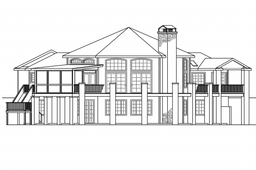 Amazing Rear Elevation House Plans House Design Ideas House Plan And Elevations Image