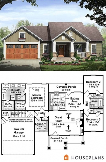 Awesome 17 best ideas about house plans on pinterest for 3 bedroom country home plans