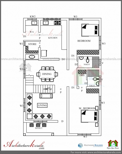 Awesome 2500 sq ft 3 bedroom house plan with pooja room for 2500 sq ft apartment plans