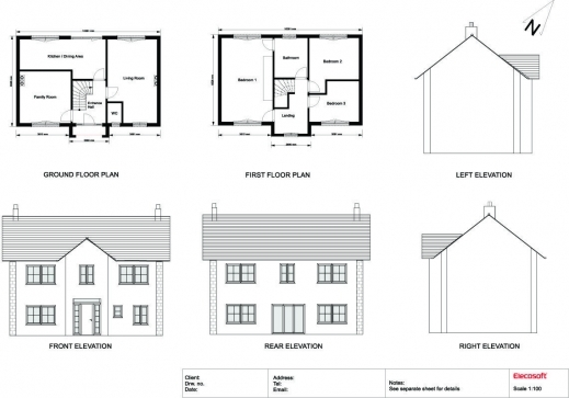 Simple Front Elevation Drawing : Awesome d drawing gallery floor plans house