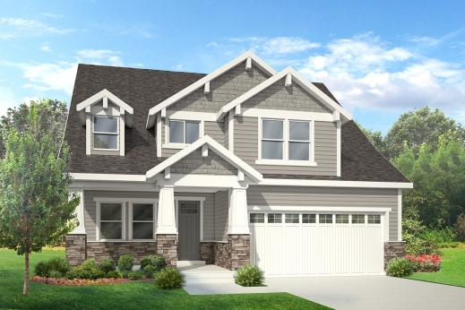 Awesome Campbell House Plan 2 Story Craftsman Style House Plan