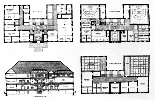 Plan And Elevation Drawing Gcse : Awesome floor plan elevation vintage bungalow house plans