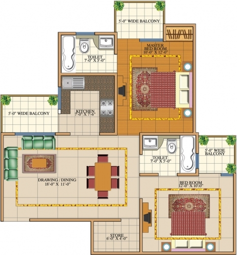 Awesome Gulmohur Garden Ready To Move In Raj Nagar Extension 9811643456 Home Plan1000 Sf Pics
