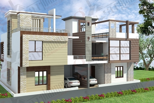 Awesome house plan house elevation indian pinterest house for Indian house elevation photo gallery