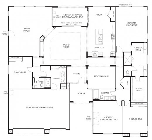 Awesome Incredible Amazing Single Story Floor Plans One Story House Plans Plans Of 4 Bedroomed Single Storey Houses Pics