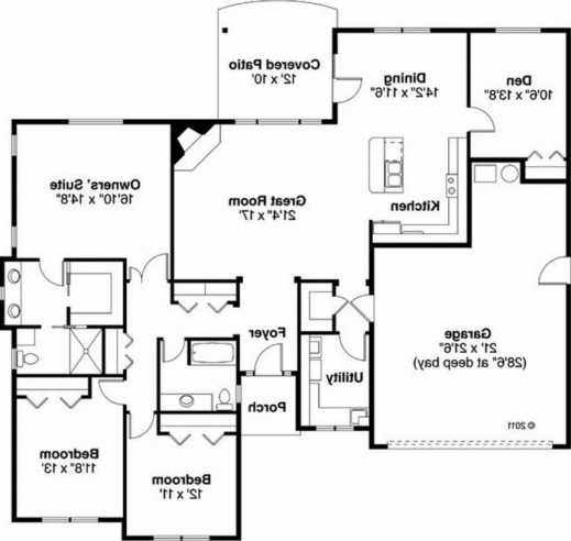Awesome Master Bedroom House Plans 2 Story Traditional Style Plan Ranch 2016 House Plans Photo