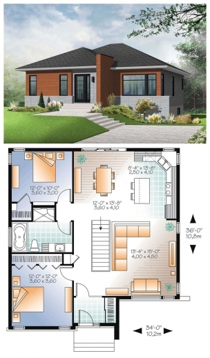 Best 17 Best Images About House Plans Ideas On Pinterest House Plans Modern 3 Bedroom Bungalow Floor Plans Images