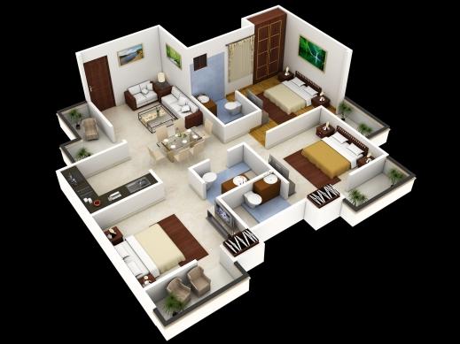 Best 3 Bedroom House Designs 3d Buscar Con Google Grandes Mansiones 3d Plans Of House Photo