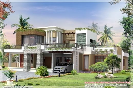 Best Contemporary House Plans With Photos 2800 Sqft Modern Wonderful Modern Homes In Kerala Plan Pics