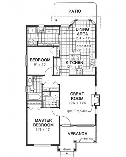 Best Cottage Style House Plan 2 Beds 2 Baths 1100 Sqft Plan 21 222 Plan Home 1000 Sq Photos