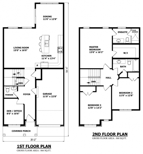 Stylish 3 Bedroom Floor Plan With Dimensions Small House