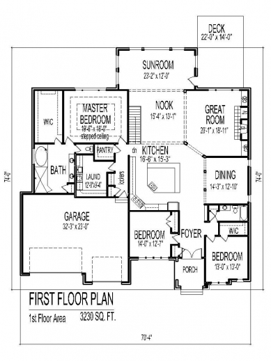 Delightful one story house plans with open floor plans 3 bedroom open floor plan