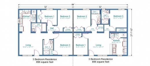 Delightful Duplex Mobile Home Floor Plans Bedroom Duplex Floor Plans Http Duplex Floor Plans Image