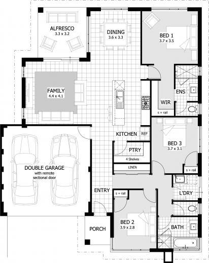 Fantastic 3 Bedroom House Floor Plan Home Design Ideas Site Plan 3bedrooms In Ghana Images