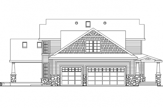 Fantastic Craftsman House Plans Tillamook 30 519 Associated Designs House Plan And Elevations Picture