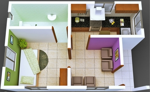 Fascinating Fine One Bedroom Home Design Ppics Or Bedroom Small Plan House Plan Of A House One Sitting Room And One Bedroom Photos