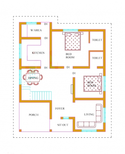 Fascinating Kerala House Plans With Estimate 20 Lakhs 1500 Sqft Kerala Home Designs Three Bedroom Plans Image