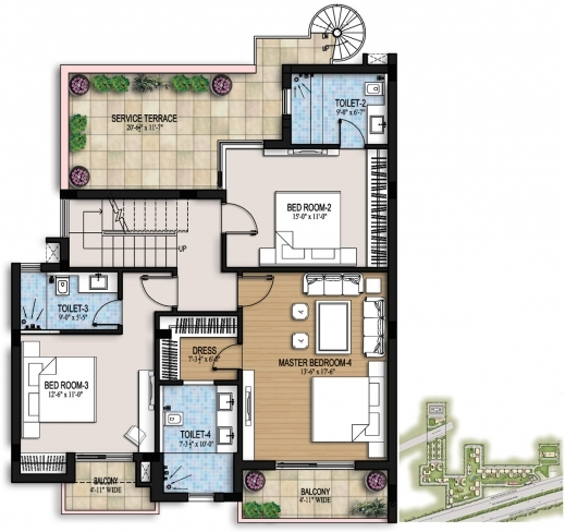 Gorgeous Ansal Housing G 2 Residential Building Floor Plan