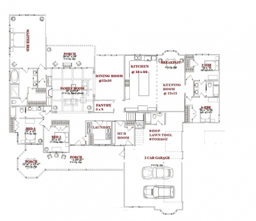 Gorgeous One Story 5 Bedroom House Plans On Any Websites Plan For A House That Have One Dining Room And One Bedroom Photo