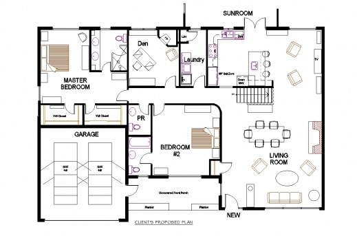Gorgeous Open Concept Floor Plans For Bungalows On With Hd Resolution Modern 3 Bedroom Bungalow Floor Plans Pics