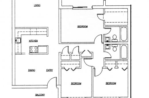 Site plan 3bedrooms in ghana house floor plans for Three bedroom house plan in ghana