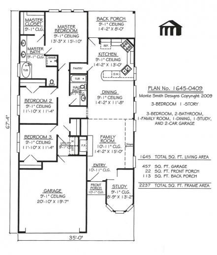 Incredible narrow lot apartments 3 bedroom story 3 bedroom for Apartment home plans for narrow lots