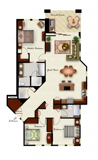 Incredible Three Bedroom Two Bathroom And Almost The Exact Same Layout We Three Bedroom Plans Picture