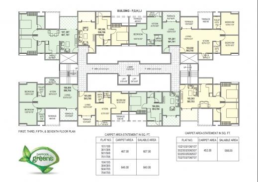 Inspiring Floor Plans Daffodil Greens Daund Pune G 2 Residential Building Floor Plan Image